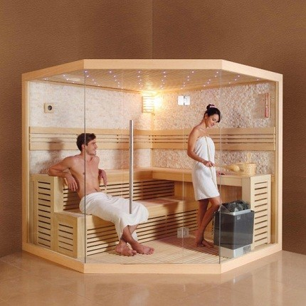 sauna helle pinie 220x220 cm 200x200 cm 180x180 cm sofort lieferbar ebay. Black Bedroom Furniture Sets. Home Design Ideas