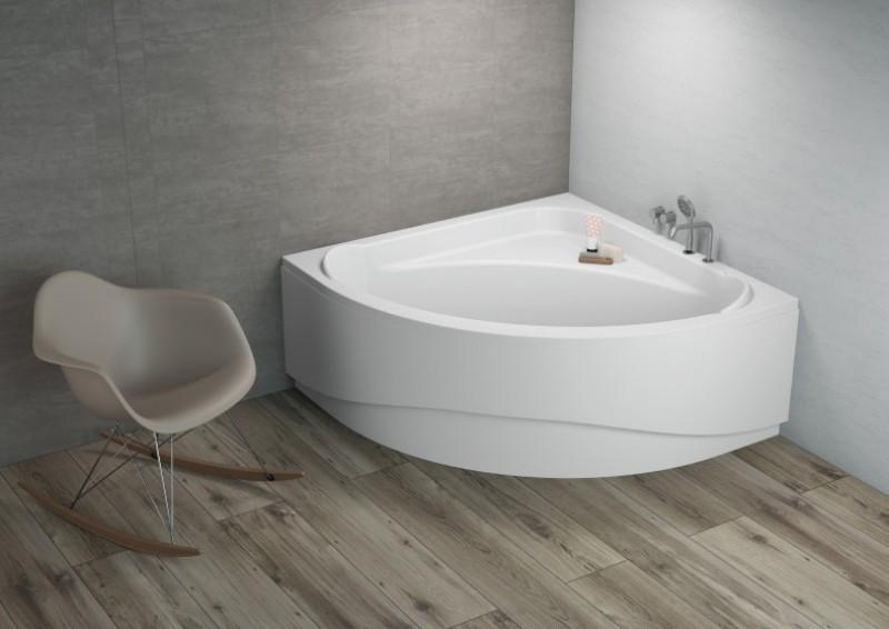 komfortable eck badewanne acryl 140x140x580 inkl wannenfu und ablaufgarnitur wannen. Black Bedroom Furniture Sets. Home Design Ideas