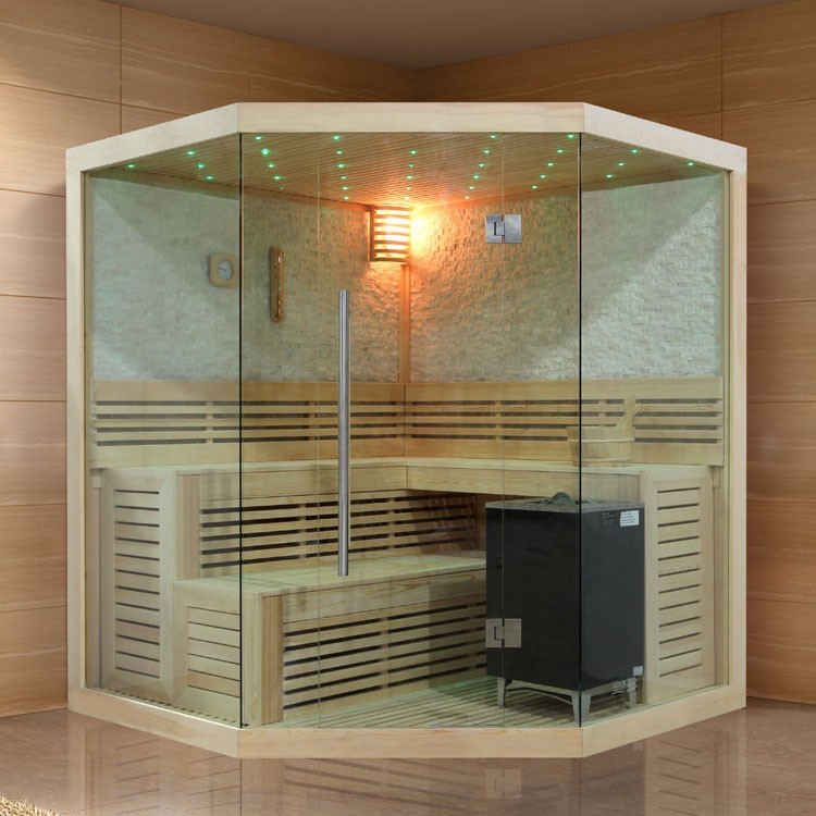 sauna pappelholz 9kw eos bio max 180x180 cm saunen. Black Bedroom Furniture Sets. Home Design Ideas
