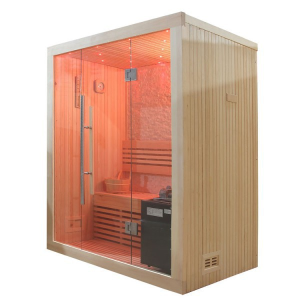 sauna pappelholz 3kw eos bio mini 150x105 cm saunen. Black Bedroom Furniture Sets. Home Design Ideas