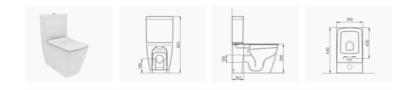 stand wc boden toilette wc sitz soft close aus duroplast mit geschlossenem sp lrand wc bidet. Black Bedroom Furniture Sets. Home Design Ideas