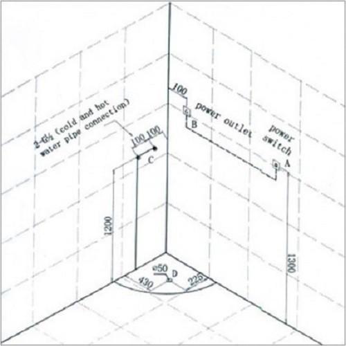 Duschkabine | Dusche | Dampfdusche Dampfduschen ohne Whirlpool | {Dusche maße 65}