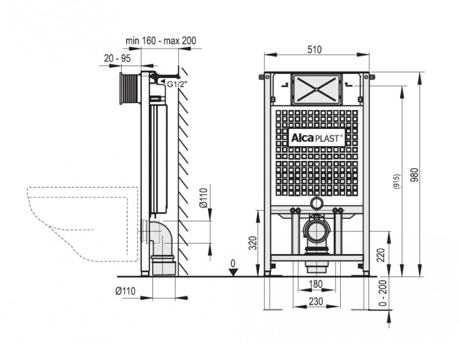 wc vorwandelement trockenbau installation 850 1000 1200 mm wc bidet vorwandinstallation. Black Bedroom Furniture Sets. Home Design Ideas