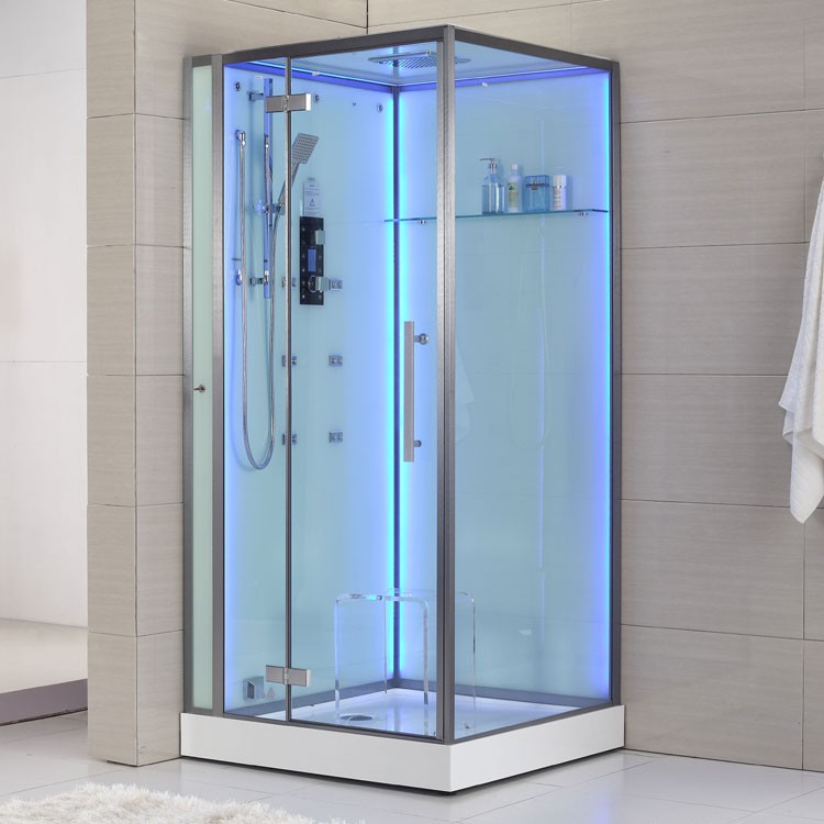 dampfdusche wei mit beleuchteter r ckwand dampfduschen alle duschen. Black Bedroom Furniture Sets. Home Design Ideas