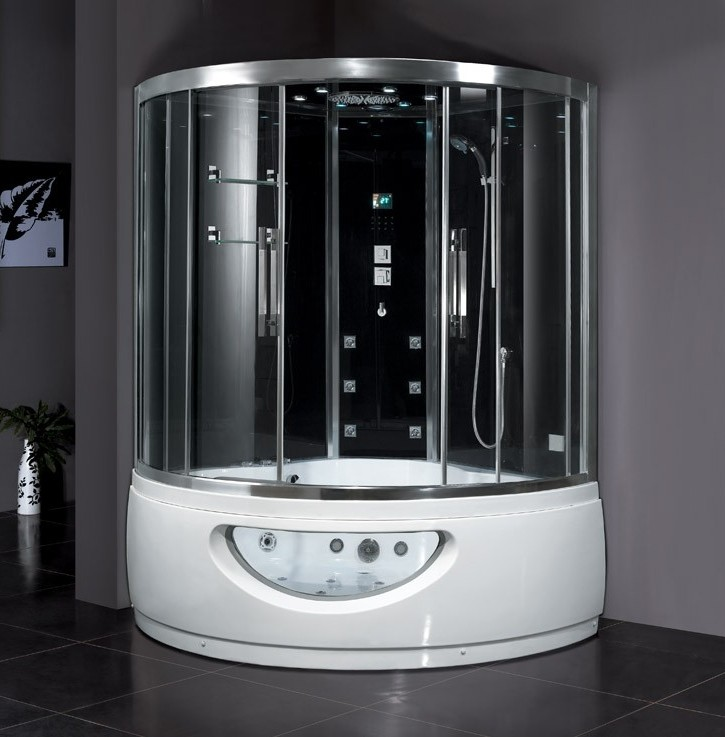 duschkabine dampfdusche whirlpool schwarz dampfduschen. Black Bedroom Furniture Sets. Home Design Ideas