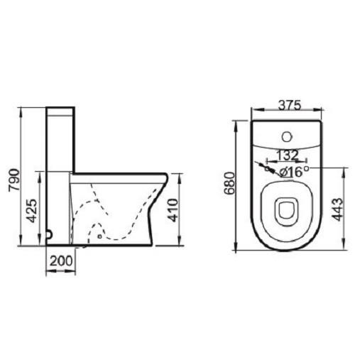 stand wc nano beschichtung duroplast wc sitz soft close ebay. Black Bedroom Furniture Sets. Home Design Ideas