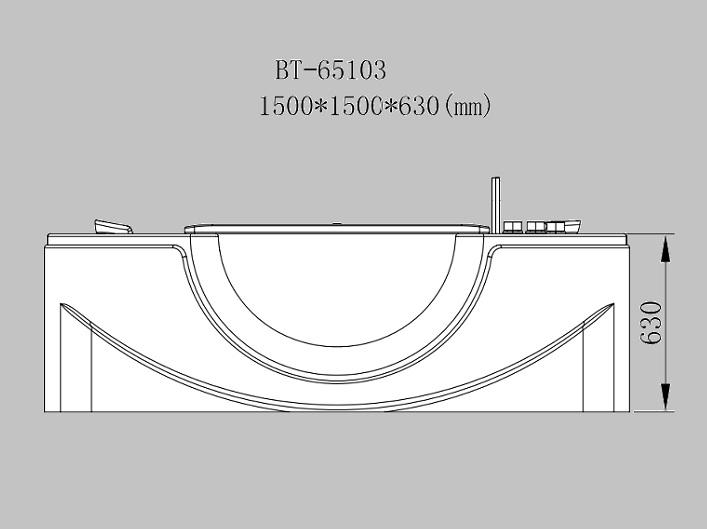 Whirlpool badewanne 150 x 150 x 63cm ebay - Pool wanne gebraucht ...